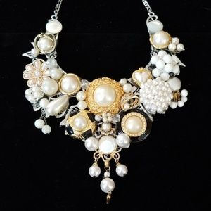 Vintage Collage Couture Statement Necklace NWT